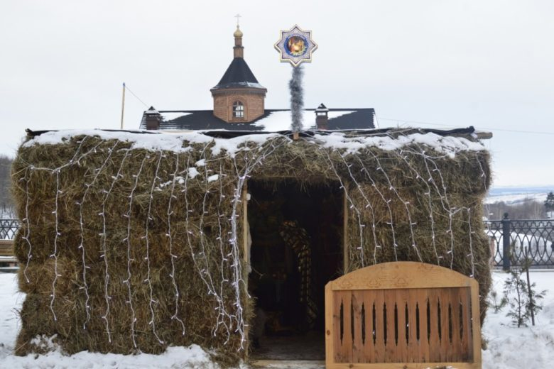 Рождественский вертеп в монастыре.